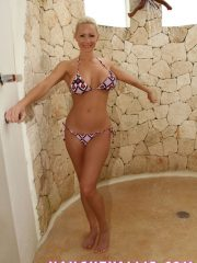 MILF Showering After Swimming